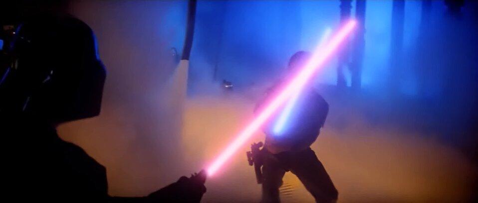 Star Wars - A birodalom visszavág - Luke és Vader fénykardpárbaja